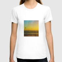 Birds Seeking Womens Fitted Tee White SMALL