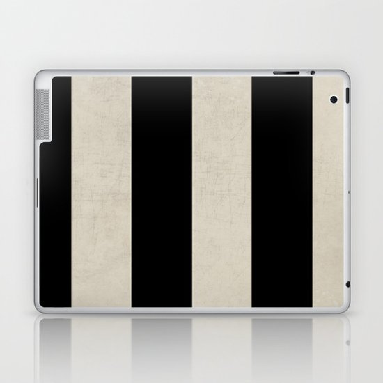 vintage black stripes Laptop & iPad Skin