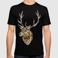 Deer // Animal Poker Mens Fitted Tee Black SMALL