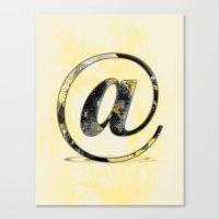 At Sign {@} Series - Bas… Canvas Print