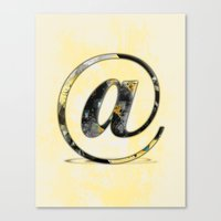 At Sign {@} Series - Baskerville Typeface Canvas Print