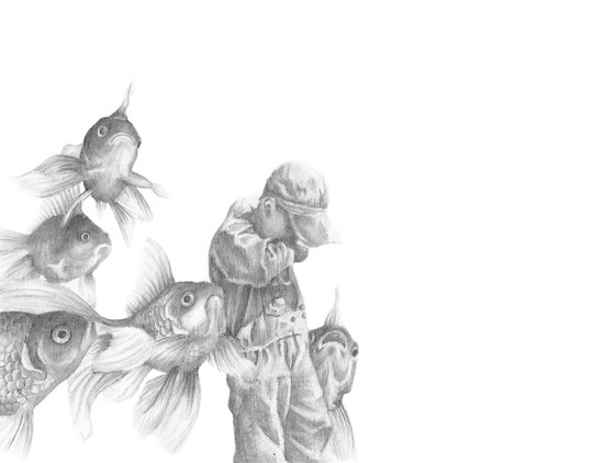 In which fish show concern Art Print