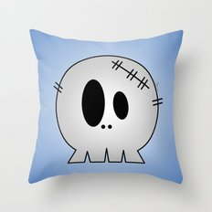Dead Little Skull Throw Pillow