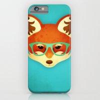 Hipster Fox: Azure iPhone 6 Slim Case