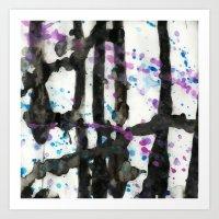 Throwing Colors Art Print
