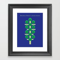 Vegetable: Brussels Spro… Framed Art Print