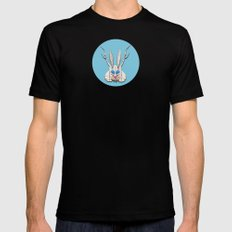 THE JACKALOPE Mens Fitted Tee Black SMALL