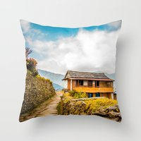 Village House Throw Pillow