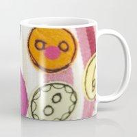 Embroidered Buttons Pink Mug