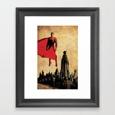 Superman Justice League Framed Art Print