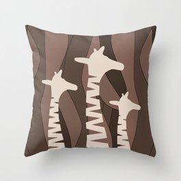 Throw Pillow - Abstract Giraffe Family  - oursunnycdays