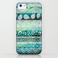 iPhone 5c Cases featuring Dreamy Tribal Part VIII by Pom Graphic Design