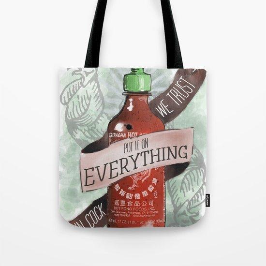 An Ode To Sriracha Tote Bag