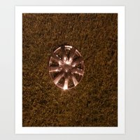Wheel Lay On The Lawn Art Print