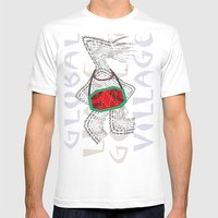 Global Village Mens Fitted Tee White SMALL