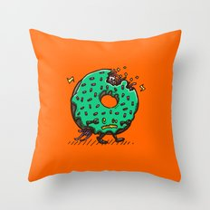 Zombie Donut 01 Throw Pillow