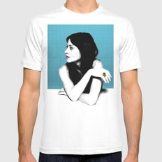 FIONA APPLE IDLER WHEEL SMALL White Mens Fitted Tee