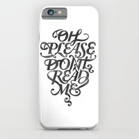 Please Don't (white version) iPhone 6 Slim Case
