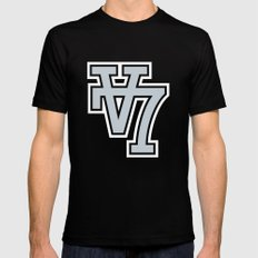 V7 SMALL Black Mens Fitted Tee