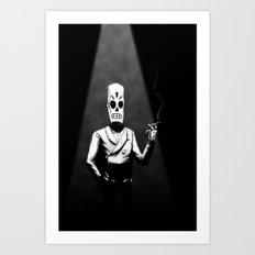 Manny Calavera Art Print
