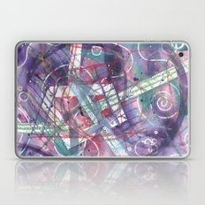 purple geo abstract Laptop & iPad Skin
