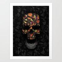 Geometric Skull Art Print