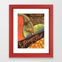 Exchangeosaur Framed Art Print