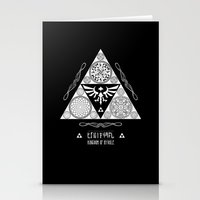 Legend Of Zelda Kingdom … Stationery Cards