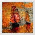 melancholic boats Canvas Print