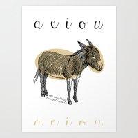 A  E  I  O  U    Borriqu… Art Print