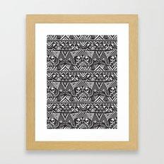 Pug  Tribal Framed Art Print