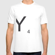 Scrabble Y Mens Fitted Tee SMALL White
