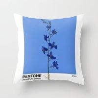 Pantone 279 U Throw Pillow