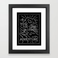TIME FOR ADVENTURE (BW) Framed Art Print