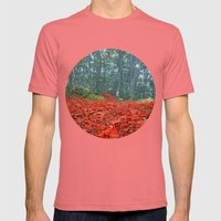 Enchanted Mens Fitted Tee Pomegranate SMALL
