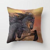 HORSES - On sugar mountain Throw Pillow
