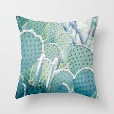 Paddle Cactus Throw Pillow