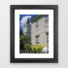 small town church Framed Art Print