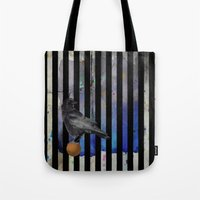 Crow Stripes Tote Bag
