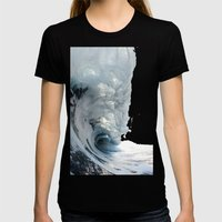 Wave Womens Fitted Tee Black SMALL