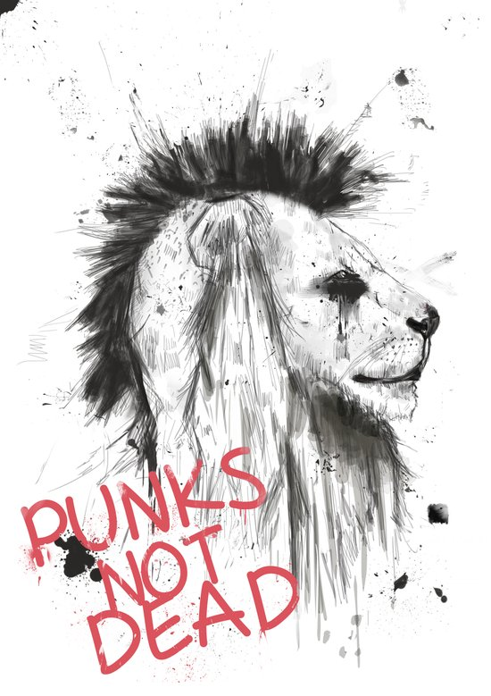 punks not dead Art Print