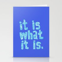 What It Is Blue Stationery Cards