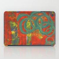 Green Spirals iPad Case