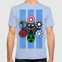 Google+ Circle of Trust  Mens Fitted Tee Tri-Blue SMALL