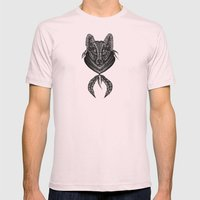 Wolf Mens Fitted Tee Light Pink SMALL