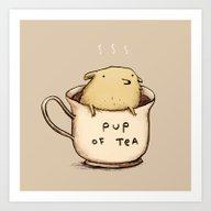 Pup Of Tea Art Print