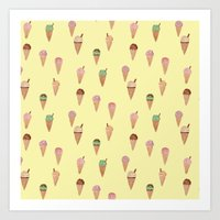 Ice Creams Art Print