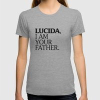 LUCIDA,  I AM YOUR FATHER. Womens Fitted Tee Athletic Grey SMALL