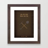 Breaking Bad - Buried Framed Art Print