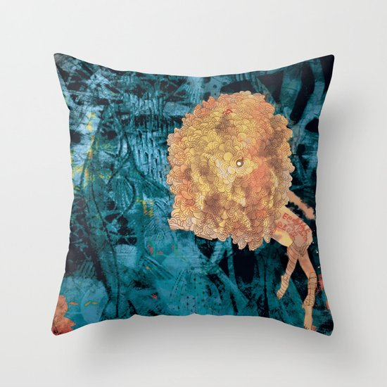 Something on Her mind.. Throw Pillow
